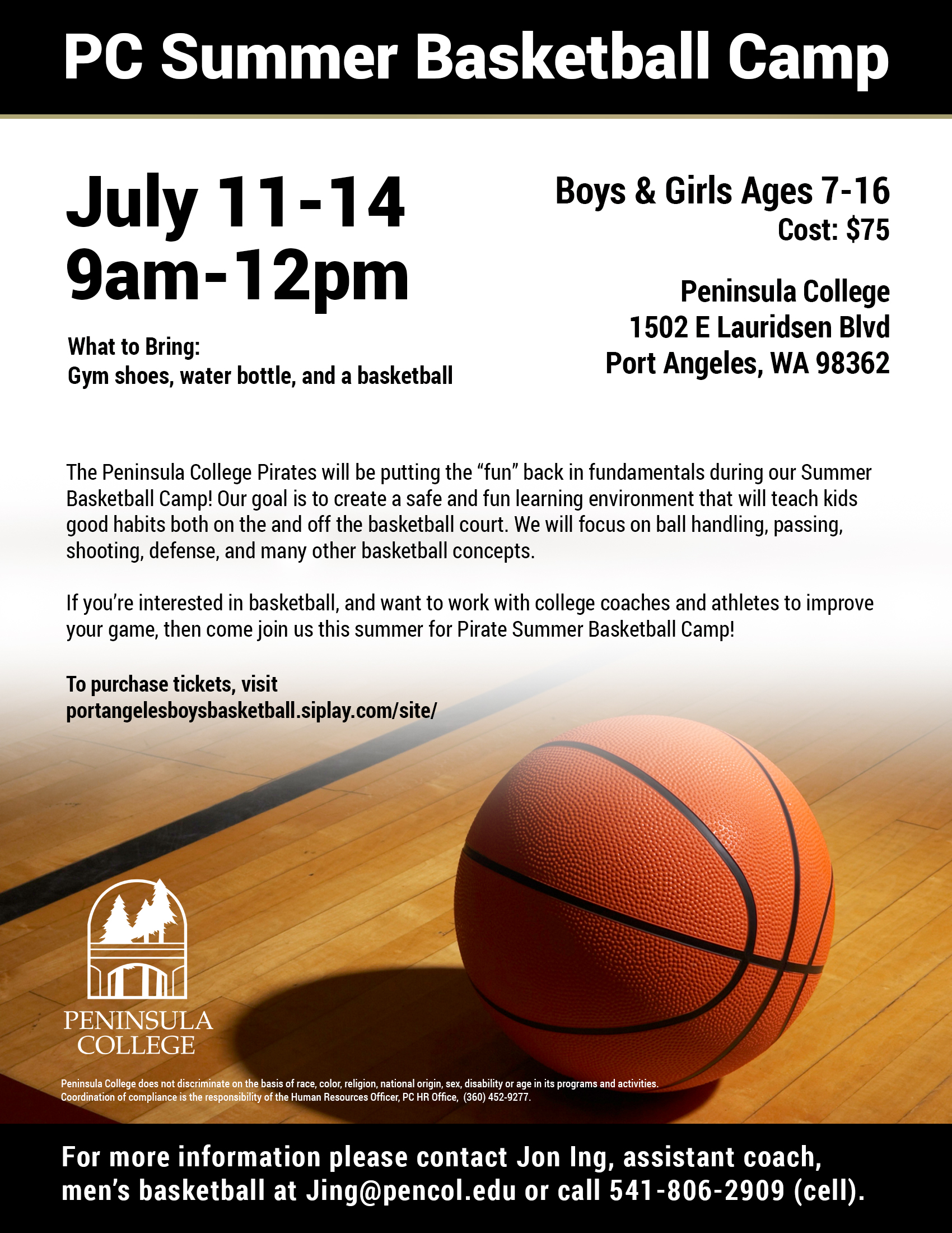 2016 Summer Basketball Camp