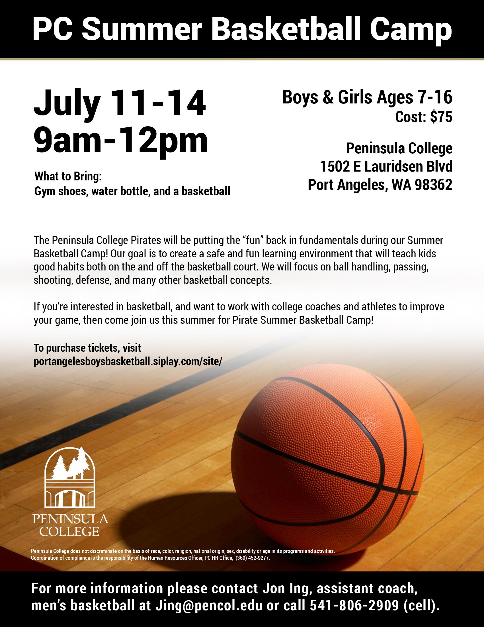2016 Summer Basketball Camp