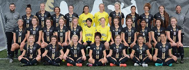 2016 Peninsula College womens soccer team photo
