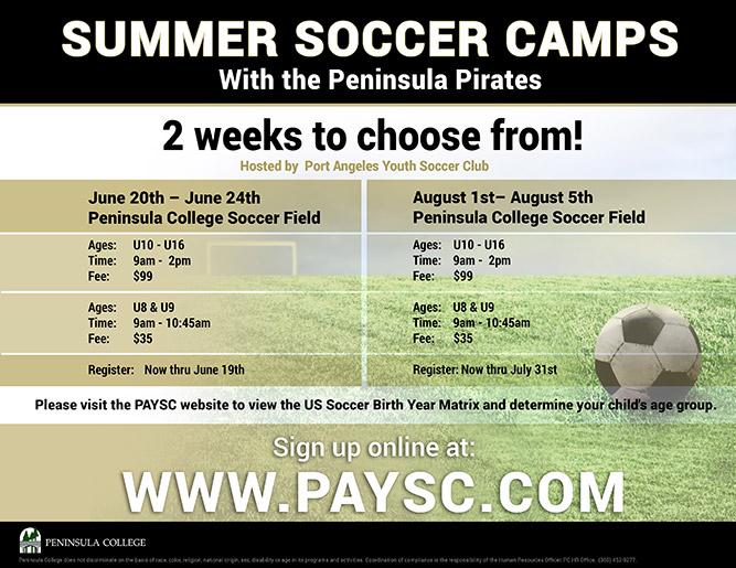 2016 Summer Soccer Camps
