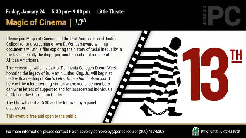 "Magic of Cinema | Screening of ""13th"""