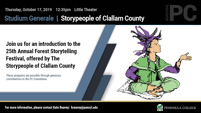 Join us for an introduction to the 25th Annual Forest Storytelling Festival, offered by the Storypeople of Clallam County.