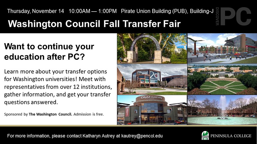 Washington Council Fall Transfer Fair