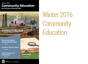 Winter 2016 Community Education