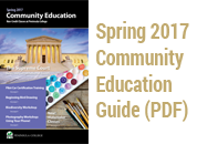 Spring 2017 Community Education Guide