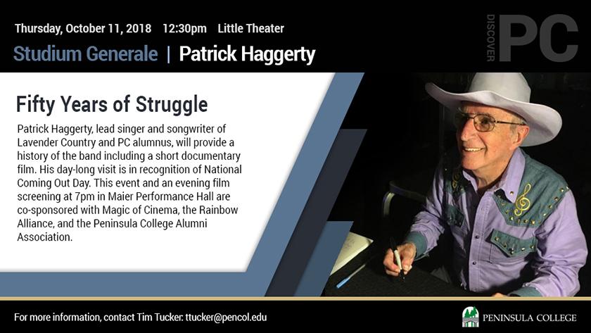 Patrick Haggerty event