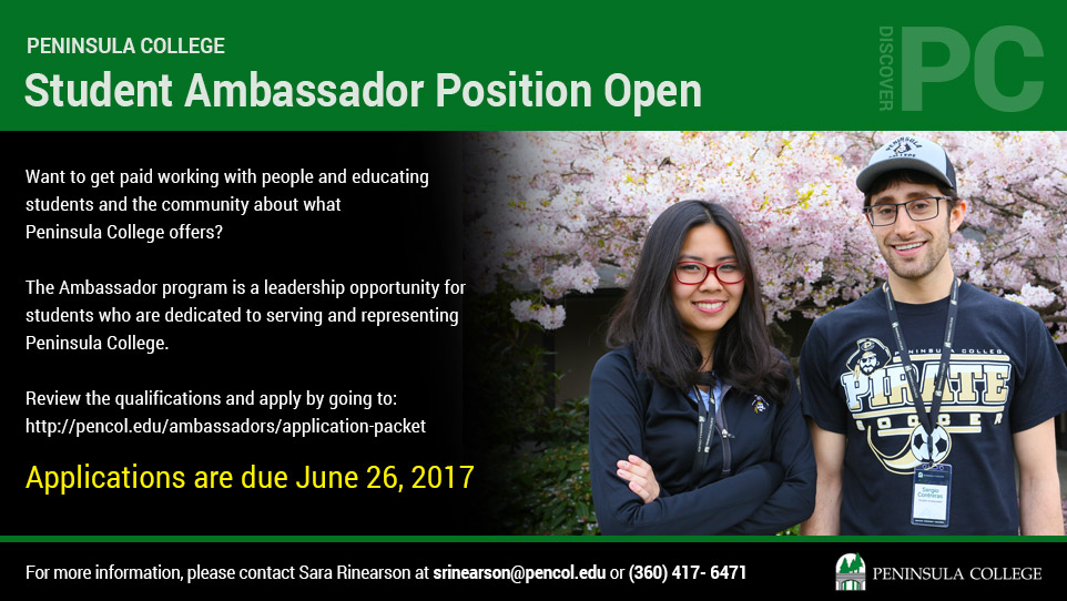 Student Ambassadors Position Opening