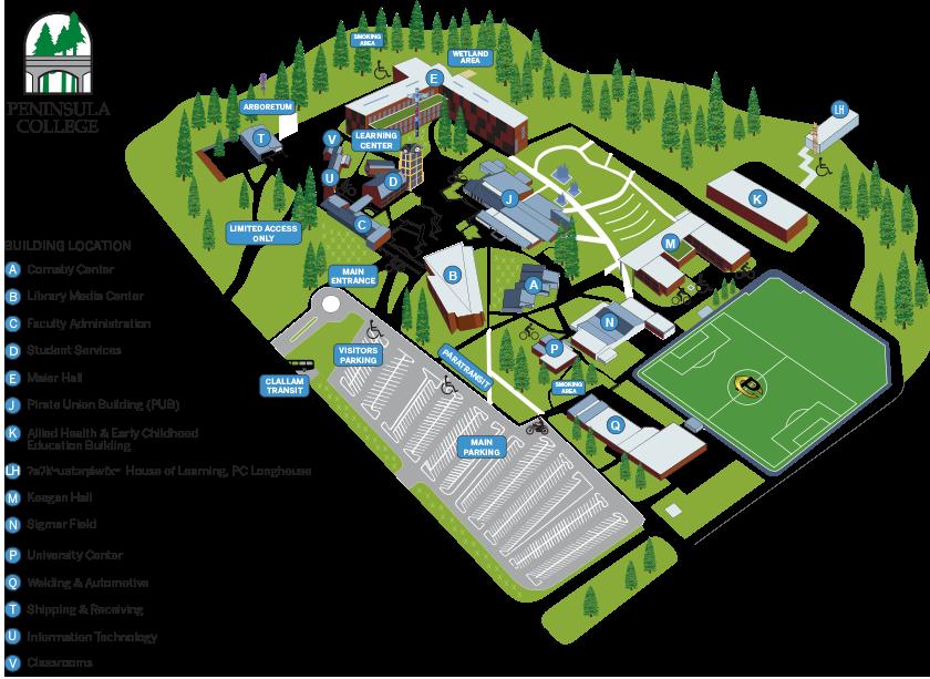 PC Port Angeles Campus Map